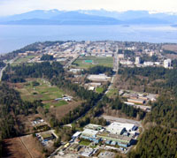 TRIUMF Site - University of British Columbia in background