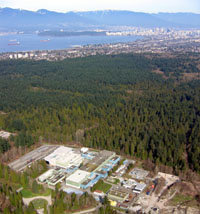 TRIUMF Site - City of Vancouver B.C. in background